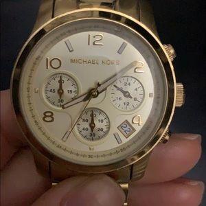 Michael Kors Gold Chronograph Watch MK5055